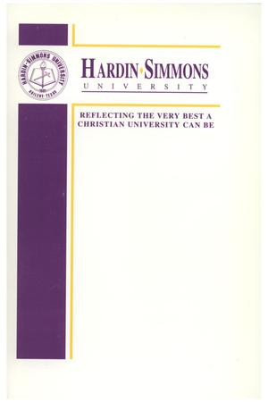 Primary view of object titled 'Catalog of Hardin-Simmons University, 1999-2000 Undergraduate Bulletin'.
