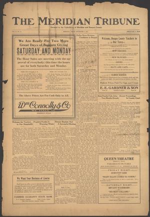The Meridian Tribune (Meridian, Tex.), Vol. 27, No. 13, Ed. 1 Friday, September 2, 1921