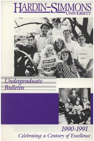Primary view of object titled 'Catalog of Hardin-Simmons University, 1990-1991 Undergraduate Bulletin'.