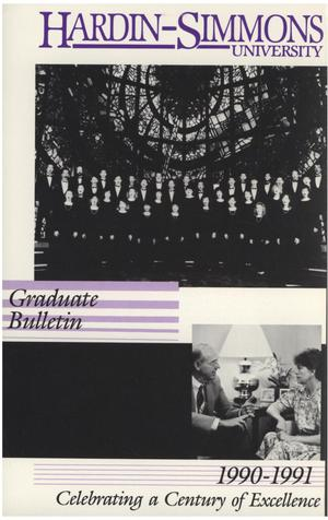 Primary view of object titled 'Catalog of Hardin-Simmons University, 1990-1991 Graduate Bulletin'.