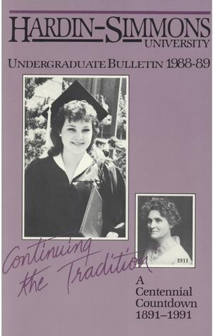 Primary view of object titled 'Catalog of Hardin-Simmons University, 1988-1989 Undergraduate Bulletin'.