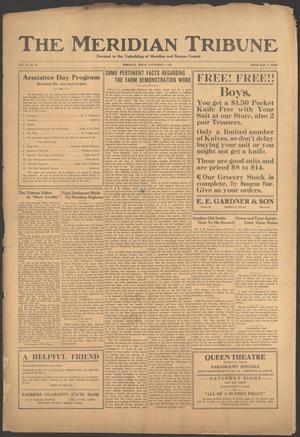 The Meridian Tribune (Meridian, Tex.), Vol. 27, No. 22, Ed. 1 Friday, November 4, 1921