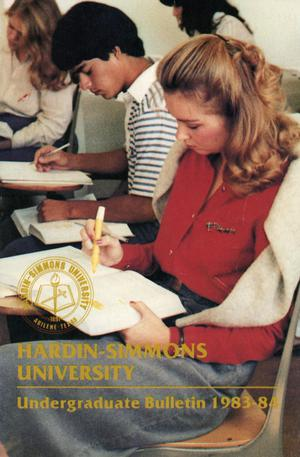 Primary view of object titled 'Catalog of Hardin-Simmons University, 1983-1984 Undergraduate Bulletin'.