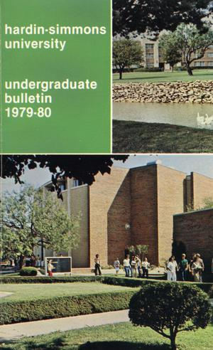 Primary view of object titled 'Catalog of Hardin-Simmons University, 1979-1980 Undergraduate Bulletin'.