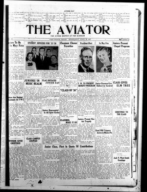 Primary view of object titled 'The Aviator (Fort Worth, Tex.), Vol. 11, No. 27, Ed. 1 Wednesday, April 28, 1937'.