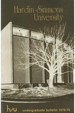 Primary view of object titled 'Catalog of Hardin-Simmons University, 1978-1979 Undergraduate Bulletin'.