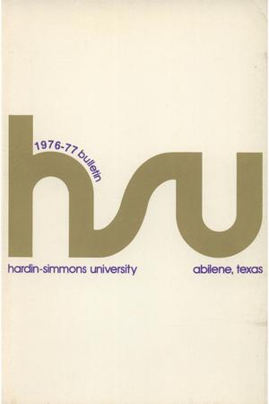 Primary view of object titled 'Catalog of Hardin-Simmons University, 1976-1977'.