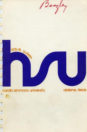 Primary view of object titled 'Catalog of Hardin-Simmons University, 1975-1976'.