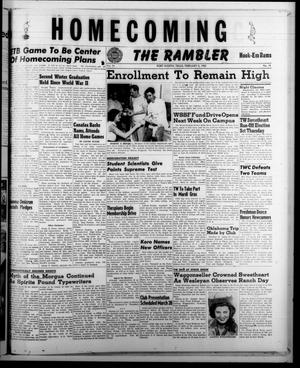 The Rambler (Fort Worth, Tex.), Vol. 24, No. 18, Ed. 1 Tuesday, February 5, 1952