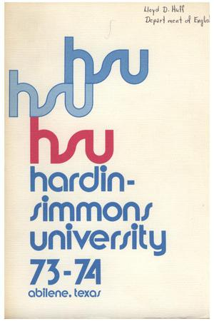 Primary view of object titled 'Catalog of Hardin-Simmons University, 1973-1974'.