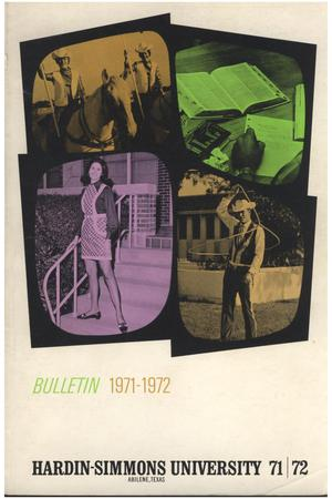 Primary view of object titled 'Catalog of Hardin-Simmons University, 1971-1972'.