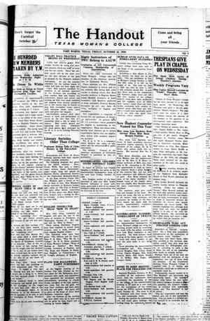 The Handout (Fort Worth, Tex.), Vol. 3, No. 5, Ed. 1 Friday, October 22, 1926
