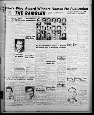 Primary view of object titled 'The Rambler (Fort Worth, Tex.), Vol. 23, No. 9, Ed. 1 Tuesday, November 7, 1950'.
