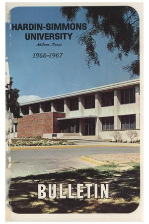 Primary view of object titled 'Catalog of Hardin-Simmons University, 1965-1966'.