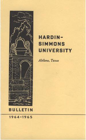 Primary view of object titled 'Catalog of Hardin-Simmons University, 1963-1964'.