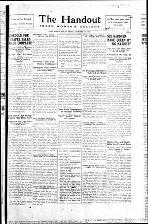 The Handout (Fort Worth, Tex.), Vol. 3, No. 4, Ed. 1 Friday, October 15, 1926