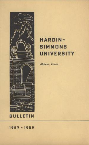 Catalog of Hardin-Simmons University, 1957-1958