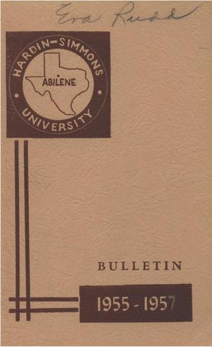 Catalog of Hardin-Simmons University, 1954-1955