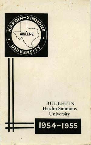 Primary view of object titled 'Catalog of Hardin-Simmons University, 1953-1954'.
