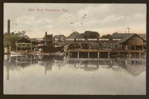 Primary view of object titled '[Shipyard in Beaumont]'.