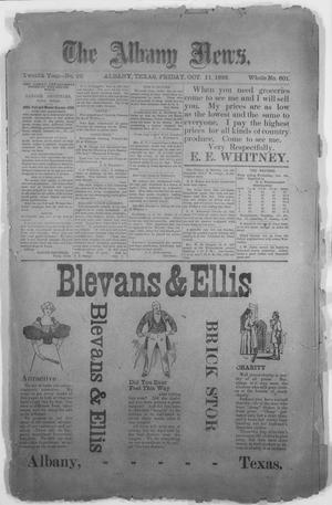 Primary view of The Albany News. (Albany, Tex.), Vol. 12, No. 26, Ed. 1 Friday, October 11, 1895