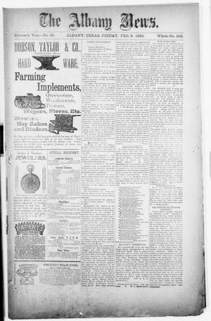 Primary view of object titled 'The Albany News. (Albany, Tex.), Vol. 11, No. 43, Ed. 1 Friday, February 8, 1895'.