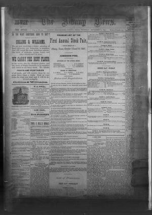 Primary view of object titled 'The Albany News. (Albany, Tex.), Vol. 4, No. 29, Ed. 1 Thursday, September 8, 1887'.