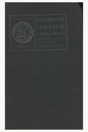 Primary view of object titled 'Catalogue of Simmons College, 1907-1908'.