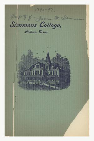 Primary view of object titled 'Catalogue of Simmons College, 1896-1897'.