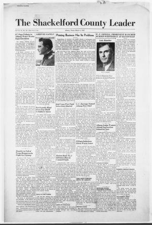 Primary view of object titled 'The Shackelford County Leader (Albany, Tex.), Vol. 5, No. [8], Ed. 1 Thursday, March 4, 1943'.
