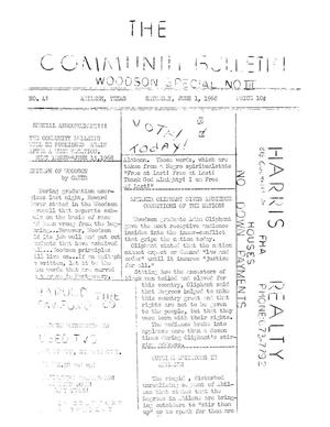 Primary view of object titled 'The Community Bulletin (Abilene, Texas), No. 41, Saturday, June 1, 1968'.