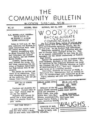 Primary view of object titled 'The Community Bulletin (Abilene, Texas), No. 40, Saturday, May 25, 1968'.