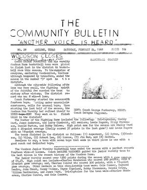 Primary view of object titled 'The Community Bulletin (Abilene, Texas), No. 28, Saturday, February 24, 1968'.