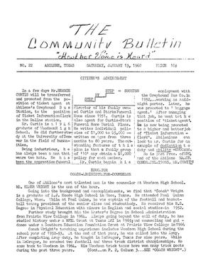 Primary view of object titled 'The Community Bulletin (Abilene, Texas), No. 22, Saturday, January 13, 1968'.