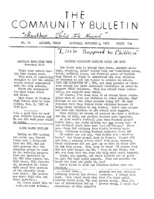 Primary view of object titled 'The Community Bulletin (Abilene, Texas), No. 12, Saturday, November 4, 1967'.