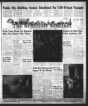 Primary view of object titled 'The Seminole Sentinel (Seminole, Tex.), Vol. 51, No. 21, Ed. 1 Thursday, April 17, 1958'.