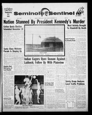 Seminole Sentinel (Seminole, Tex.), Vol. 57, No. 2, Ed. 1 Thursday, November 28, 1963