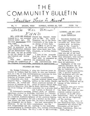 Primary view of object titled 'The Community Bulletin (Abilene, Texas), No. 11, Saturday, October 28, 1967'.