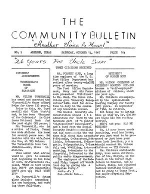 Primary view of object titled 'The Community Bulletin (Abilene, Texas), No. 9, Saturday, October 14, 1967'.