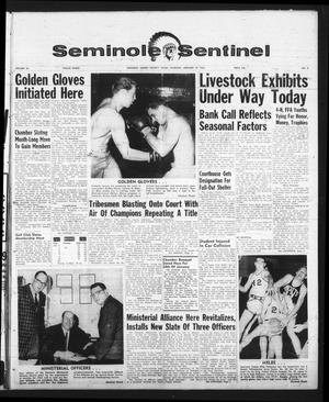 Primary view of object titled 'Seminole Sentinel (Seminole, Tex.), Vol. 56, No. 8, Ed. 1 Thursday, January 10, 1963'.