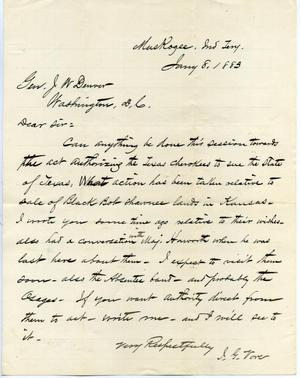 [Letter from I.G. Vore to J.W. Denver, January 8, 1883]