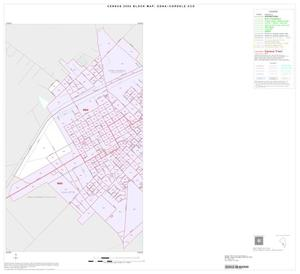 Primary view of object titled '2000 Census County Subdivison Block Map: Edna-Cordele CCD, Texas, Inset A01'.