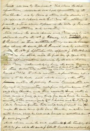 [Documents relating to the Texas Cherokees]