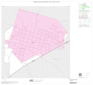 Primary view of object titled '2000 Census County Subdivison Block Map: Valley Mills CCD, Texas, Inset A01'.