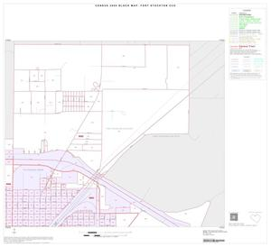 Primary view of object titled '2000 Census County Subdivison Block Map: Fort Stockton CCD, Texas, Inset B02'.