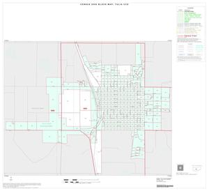 Primary view of object titled '2000 Census County Subdivison Block Map: Tulia CCD, Texas, Inset A01'.