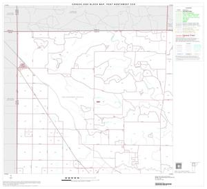 Primary view of object titled '2000 Census County Subdivison Block Map: Post Northwest CCD, Texas, Block 1'.