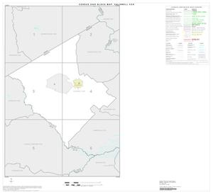 Primary view of object titled '2000 Census County Subdivison Block Map: Caldwell CCD, Texas, Index'.