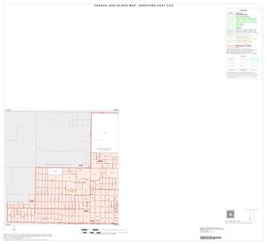 Primary view of object titled '2000 Census County Subdivison Block Map: Hereford East CCD, Texas, Inset B01'.