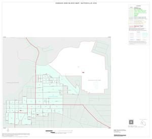 Primary view of object titled '2000 Census County Subdivison Block Map: Gatesville CCD, Texas, Inset A01'.
